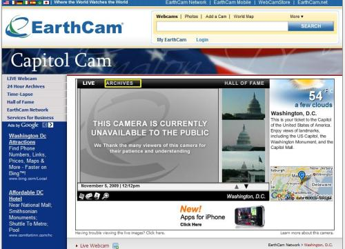 Capital Cam Shut Down