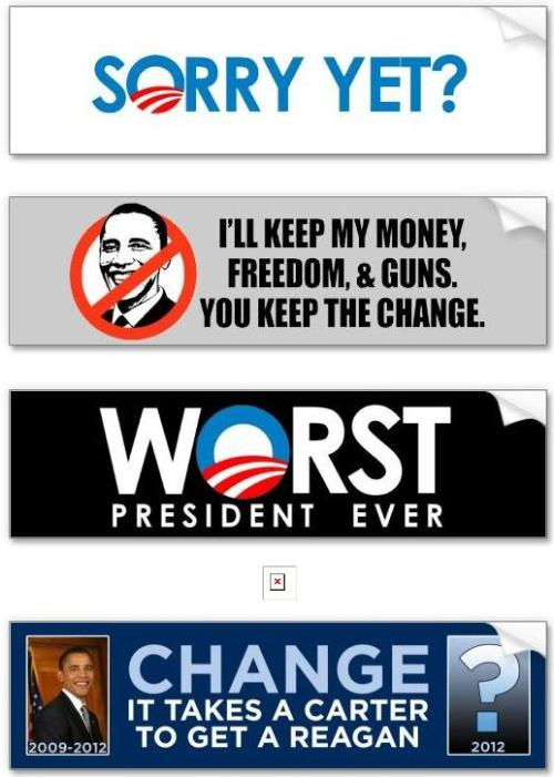Funny Obama Bumper Stickers